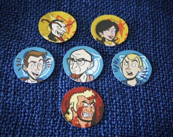 The Venture Brothers Handmade Stickers Set of 6