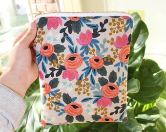 Rifle Paper co. Rosa Floral Large Zipper Bag