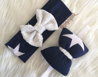 Star spangled bows in white