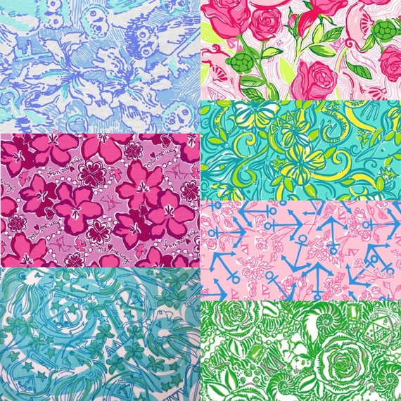 Lilly pulitzer sorority fabric for Lilly pulitzer sorority letters
