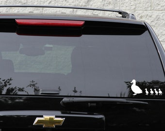 Duck family decal set in 11 colors