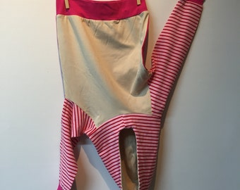 Hoodie with stripes and 2 colors, eco, mt 96, starting from 11/2 yr