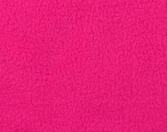 Pink Fleece Fabric - by the yard