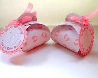Baby Shower Favor Boxes, Personalized Baby Shower Favors, Gift Boxes, Party Favors, Candy Boxes, Baby Shower Decorations - Set of 10