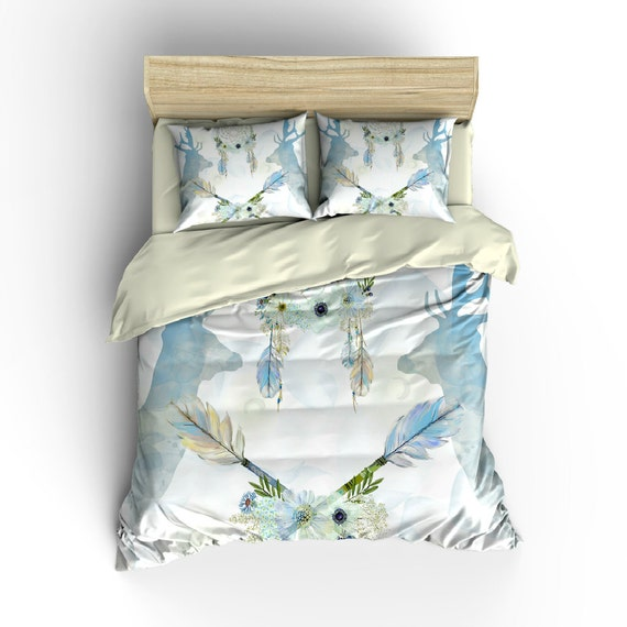 dream catcher deer floral bedding comforter cover duvet