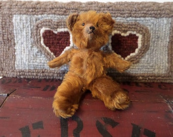 """Antique Cinnamon  Mohair Teddy Bear 11"""""""