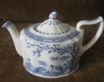 Furnivals blue quail 1920s Made in England teapot