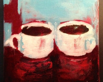 Double Espressos for Two Original Painting