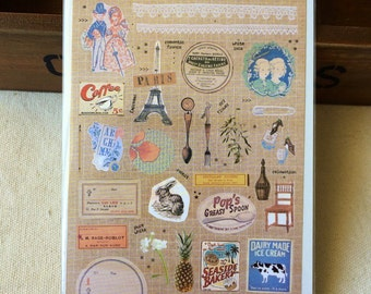 Korean stickers diary deco cute beautiful vintage french story