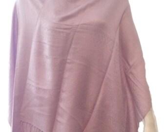 """Lilac Silk Blend Shawl Wrap - 64"""" x 27"""""""
