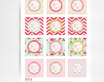 Tea Party Birthday Party Favors Instant Download Dolly and Me Party