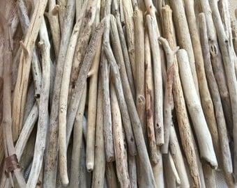 "Large Driftwood Sticks - Long Straight - 9-14"" Driftwood - 50 Bulk Driftwood Pieces - Sunburst - Mirrors - Wreaths"