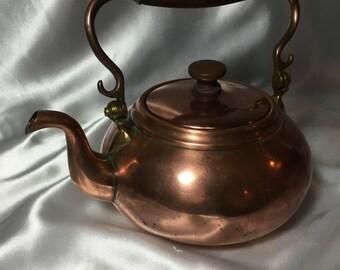 Copper Tea Pot - S. Sternau of NY