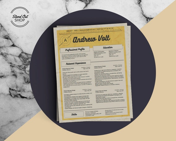 Graphic Designer Resume Template With Matching Cover Letter