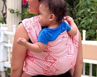 Woven Baby Wrap Sling Daiesu Octagram Coral