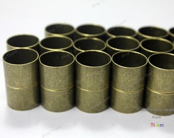 3 sets 15mm Round Hole Antique Bronze Cylinder Magnetic Clasp MT12M-501