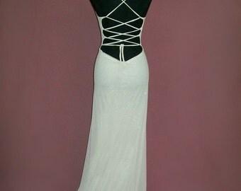 Backless Long White Dress (Agnes Dress)