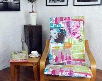 articles similaires housse pour fauteuil poang ikea en noir blanc damass sur etsy. Black Bedroom Furniture Sets. Home Design Ideas