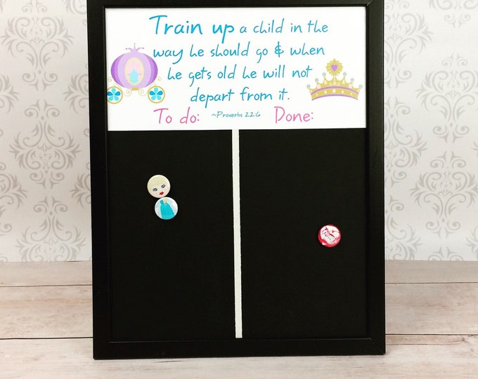 Magnetic Princess Chart - Chore Chart and Magnets - Preschool Chart - Christian Home - Family Responsibility - Homeschool Family