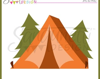 Camping clipart, camping clip art, tent clipart, summer clipart, Instant Download