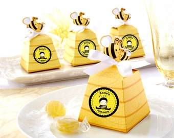 12 Bumble Bee Pop Up Theme candy Box - party favors, Candy box, treat box, for birthday, baby shower and more.