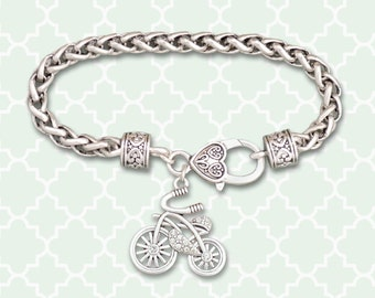 Bicycle Braided Clasp Bracelet - 53637