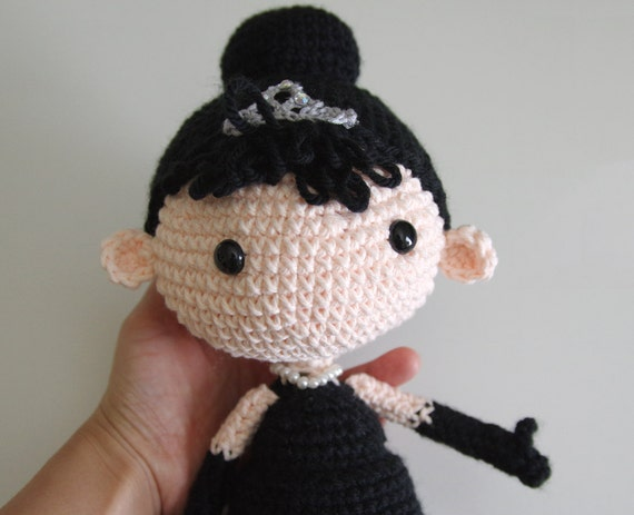 Items similar to Holly Golightly Crochet Doll - Breakfast at Tiffanys - ...