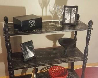 Vintage 3 tier bookcase bookshelf