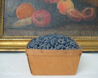 Doris Stauble American Folk Art Basket of Blueberries