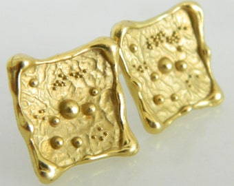 Rare Peter Cullman Vintage 18K Gold Earrings