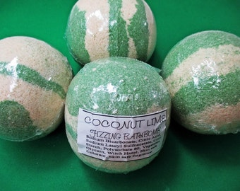Coconut Lime Fizzing Bath Bomb