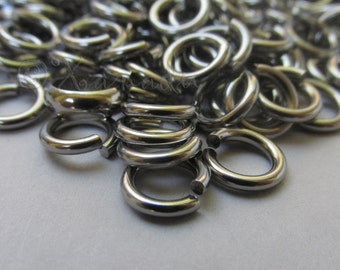 Jump Rings 8mm - 20/50/100 Stainless Steel 14 Gauge Open Jump Rings F8884