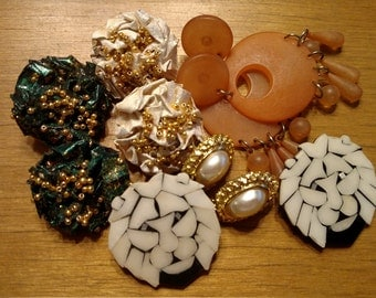 Destash Mix of Earrings for Repair or Re-purpose, Jewelry Repair, Costume Jewelry Destash, Fashion Jewelry, Vintage Jewelry Destash