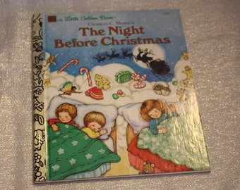 """Vintage Children's Book - Clement C. Moore's """"The Night Before Christmas"""" 1987"""