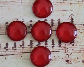 Red Photo Glass Cabochon 12mm 10mm 14mm 15mm 16mm 18mm 20mm 25mm 30mm Glass Cabs Cabochons -694X7