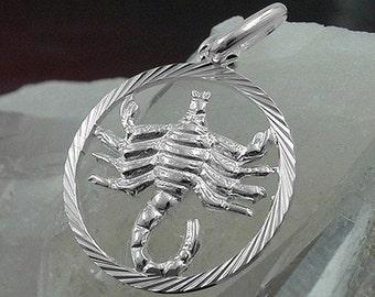 Scorpio pendant 925 silver