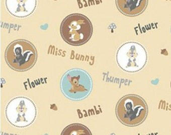 Bambi and Friends Circles Fabric
