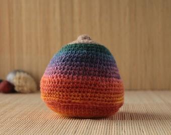 Rainbow Crochet Boob, Ante-natal Teaching Aid, Rainbow Breast, Breast-feeding Aid, IBLC Teaching Aid, Lactation Aid, Doula Gift