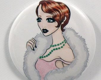 On Sale 1920's Fashion Diva Pocket Mirror