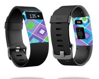 Skin Decal Wrap for Fitbit Blaze, Charge, Charge HR, Surge Watch cover sticker Pastel Argyle