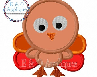 Turkey Applique Design, Thanksgiving Applique Design, Turkey Embroidery Design, Thanksgiving Embroidery Design, Machine Embroidery Design