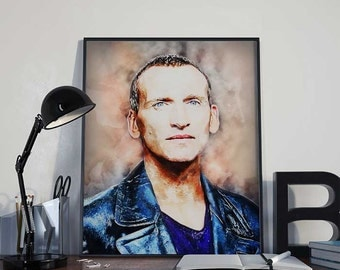 09 Doctor Who - Christopher Eccleston - The Ninth Doctor - INSTANT DIGITAL DOWNLOAD Print Poster 8x10 inches