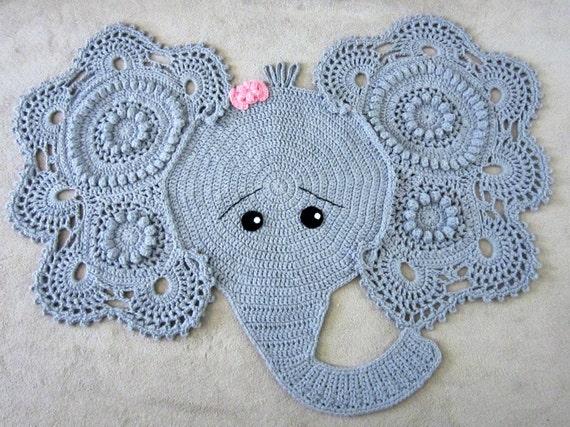 Free Crochet Elephant Rug Pattern : Elephant rug crochet elephant crochet elephant rug nursery