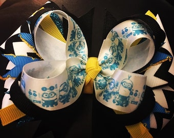 Minion Stacked Boutique Bow