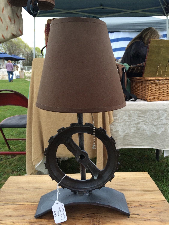 Glass Table Lamp John Deere : Tractor part table lamps john deere corn planters free