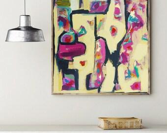 24x24 Art Print, Yellow Art, Yellow Wall Art, Yellow Art Print, Yellow Abstract Art, Abstract Art Print, Abstract Painting, Large Art Print