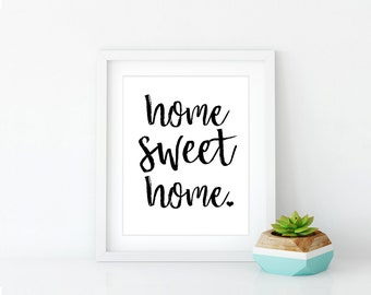 Home Sweet Home 8x10 Print, Framed Wall Art, Home Sweet Home Wall Art | Physical Print