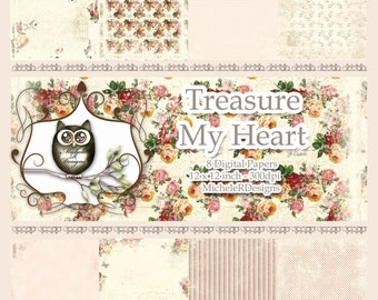 Treasure My Heart 12x12 Collection - Instant Download