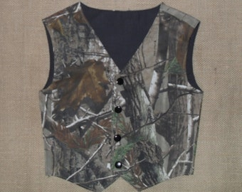 Boys & Men Camo vest Great for weddings NB to size kids 10. #6 in fabric listing Realtree Ap cotton
