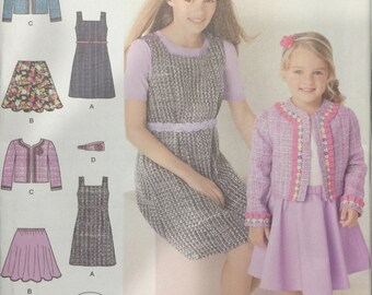 Simplicity Pattern 1723 Child's and Girls Jumper, Skirt, Jacket and Headband Size HH 3 - 6